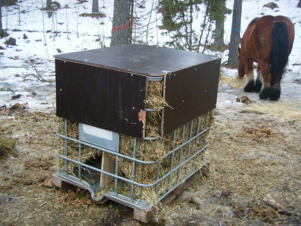 Foderhäck häst i plast