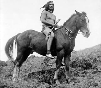 Nez Perce-krigare till häst