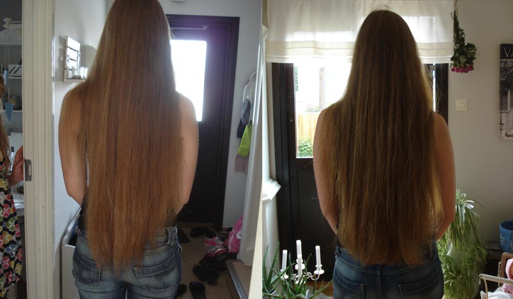 långt platt hår