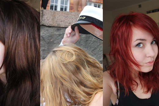 bleka håret hos frisör