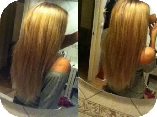 Långt hår uppklippt eller inte