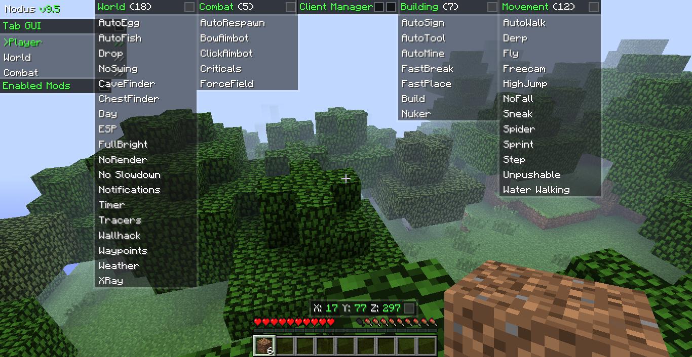 Minecraft nodus hacked client
