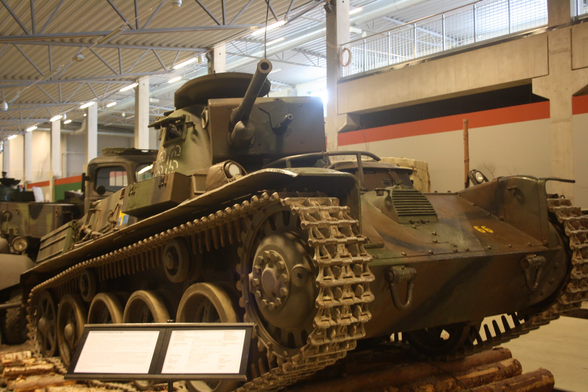 Strv m/38 в музее Arsenalen