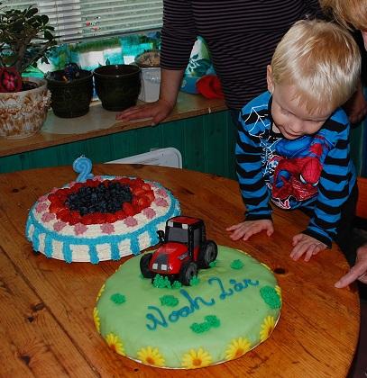 Enkel traktortårta
