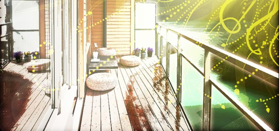 trägolv balkong